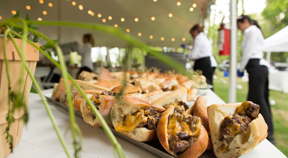 Farm to Table Wedding Mini Grass Fed Cheesesteaks