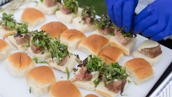 Farm to Table Wedding Seared Tuna Sliders