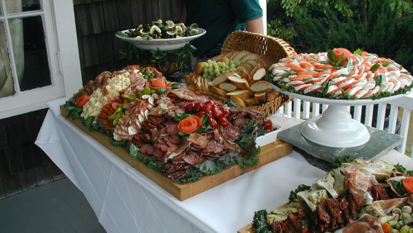 Wedding Catering antipasta appetizer table