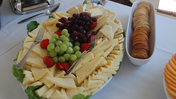 beach wedding. cheese platter