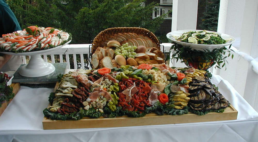wedding Catering. More antipasta appetizer table