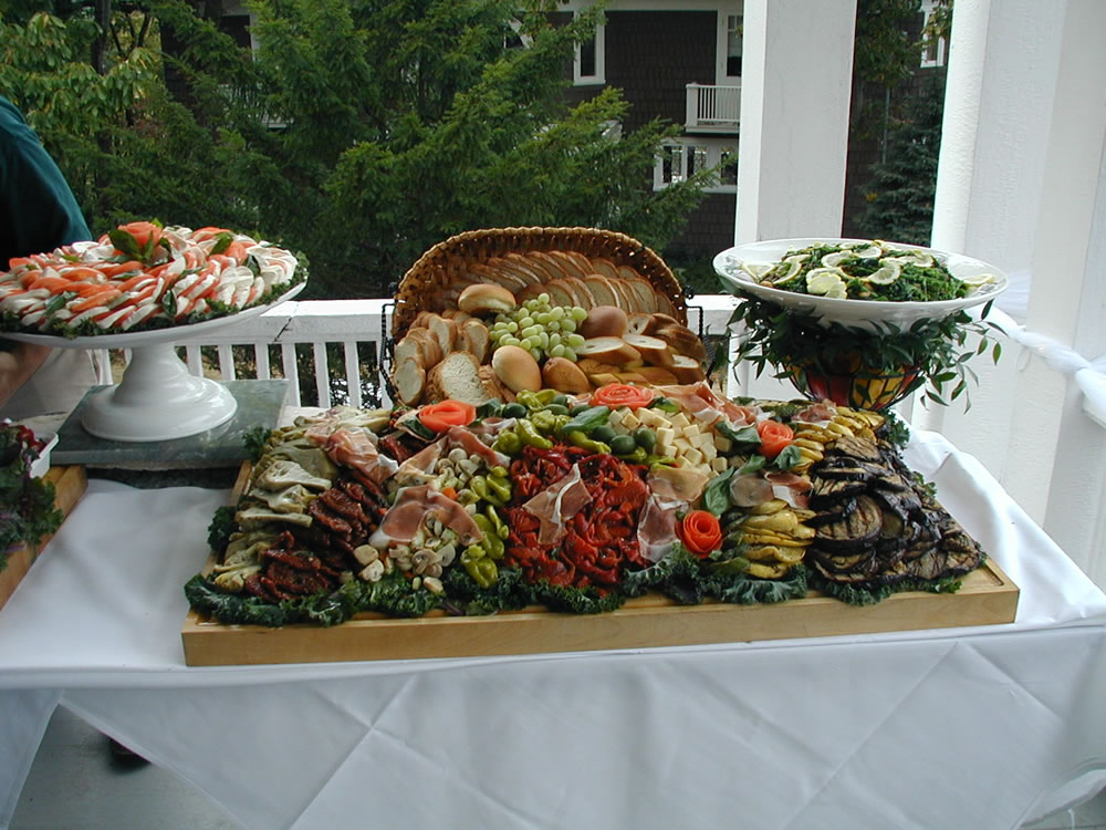 Wedding catering more antipasta appetizer table dannys steakhouse